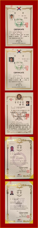 Alain-Burrese-Hapkido-Certificates