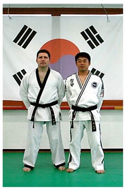 Alain Burrese with Lee Jun-kyu