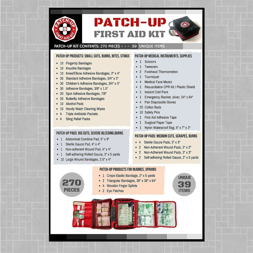 Patch Up First Aid Kit Contents