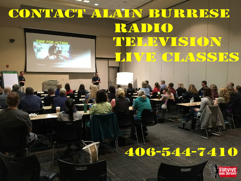 Active Shooter Class Contact Alain Burrese